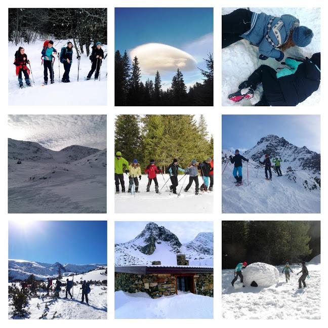 Зимен лагер със снегоходки в Рила